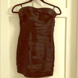 Black mini party dress